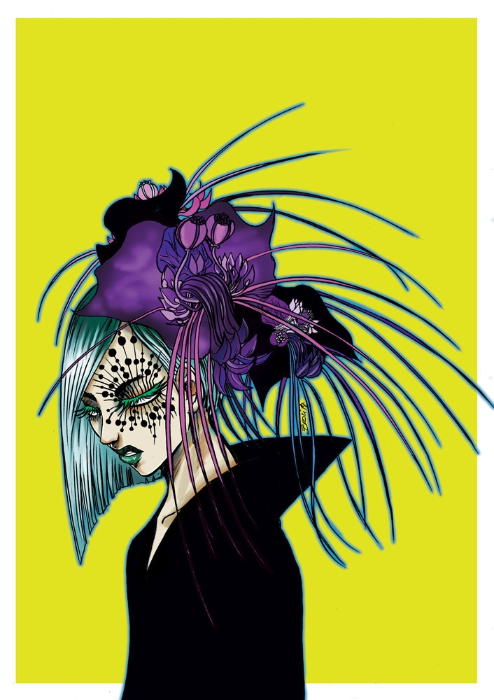 Tacca chantrieri - batflower, illustration - broci | ello