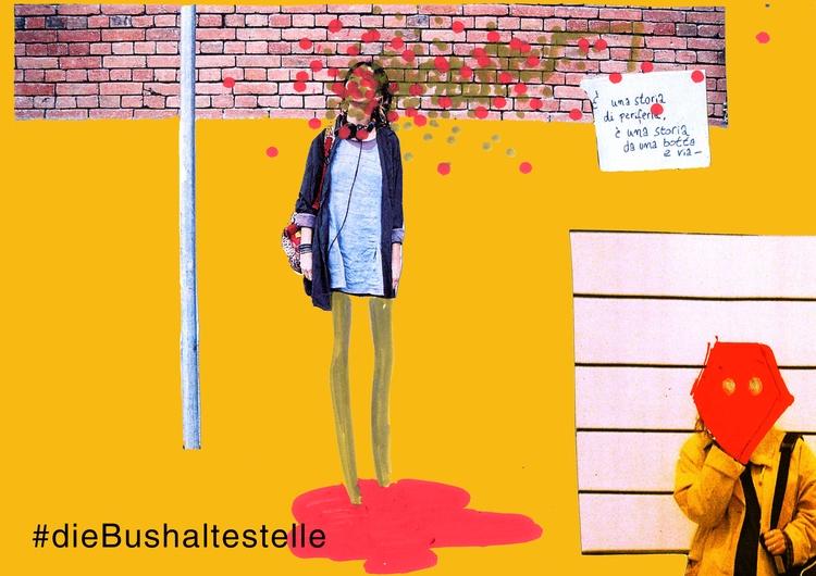 die Bushsltestelle /mistaken  - mixedmedia - mananiko_amarilla | ello