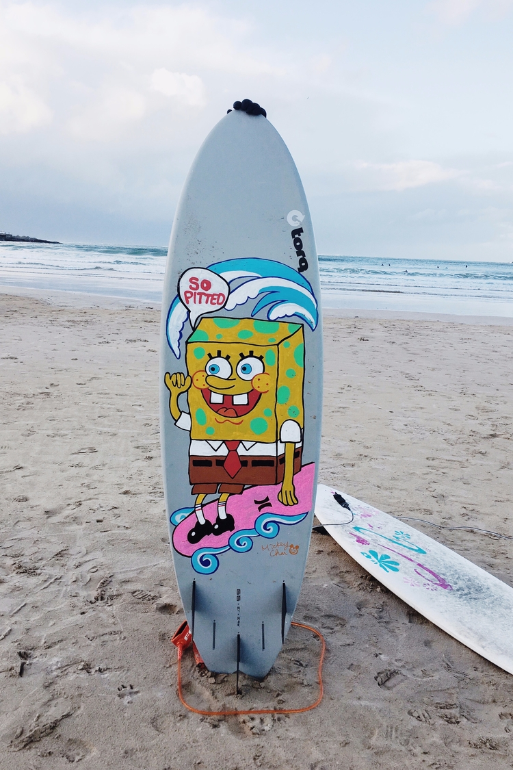 Painted board. pitted - marker, surf - mickeygogo | ello