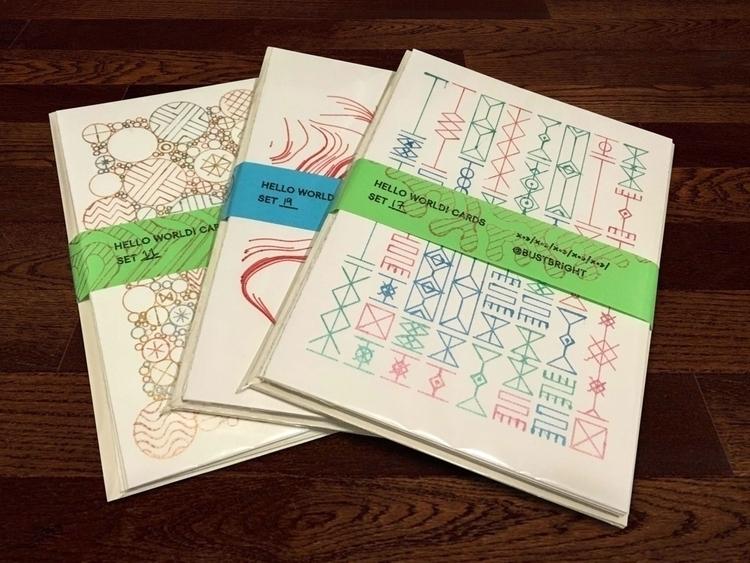 FYI: sell greeting card sets. c - dvs | ello