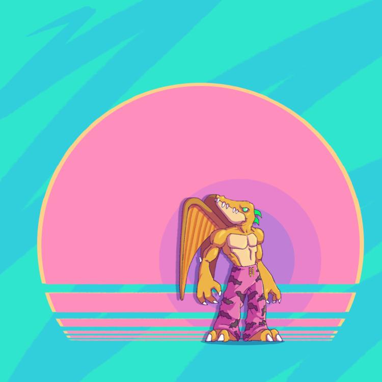 Dino Boy  - characterdesign, retroart - planckpixels | ello