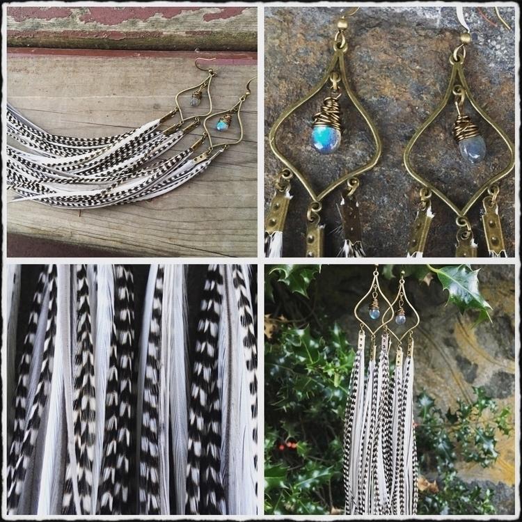 Bronze chandelier style feather - kookoomamadesign   ello
