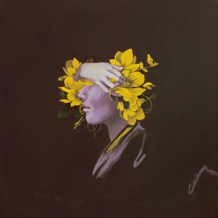 Magnolia, 24 24, Acrylic Canvas - florencesolis | ello