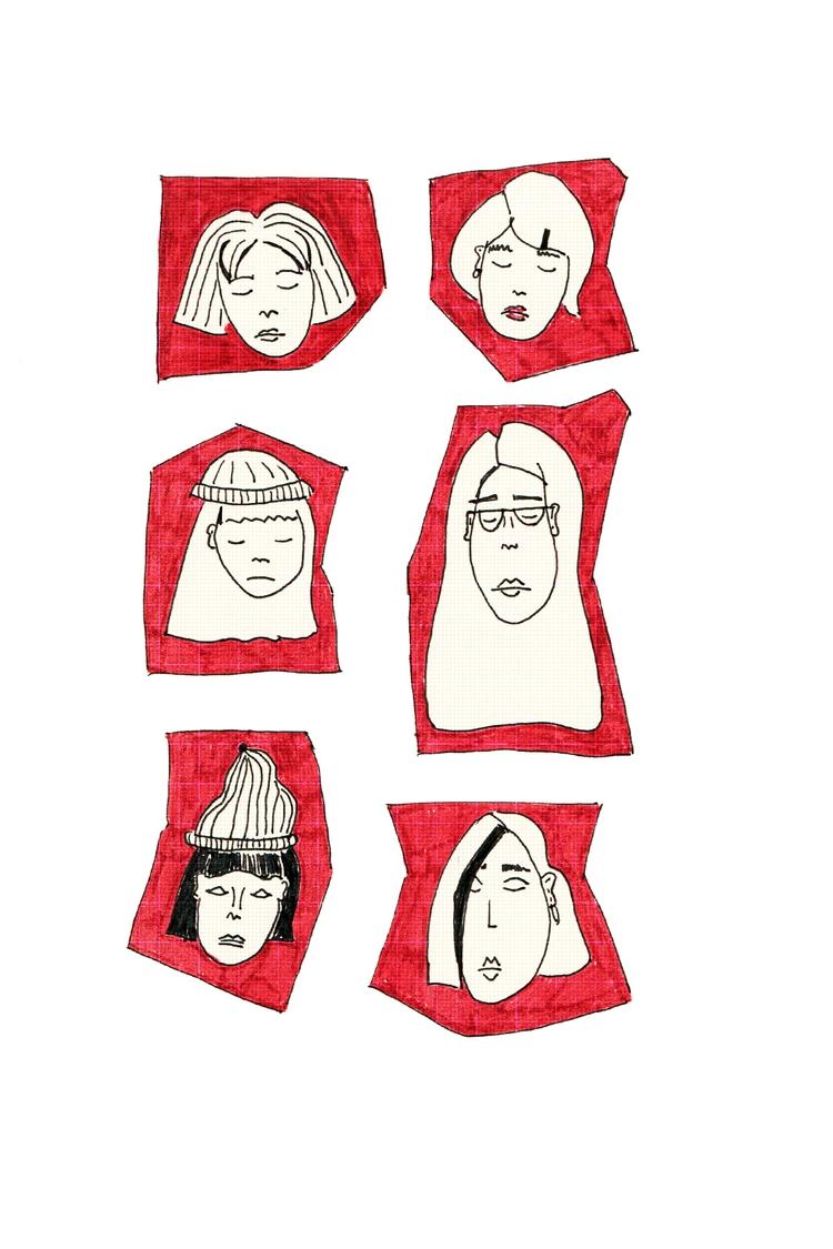 Faces 3 - illustration, illustrator - nigli | ello