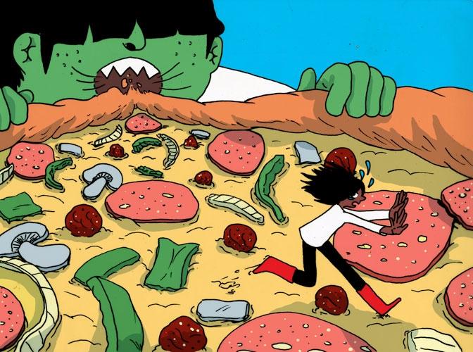 illustration, pizzadreams - vryaznorange   ello