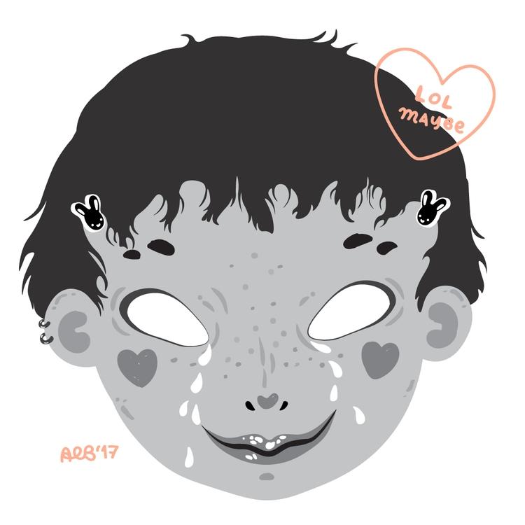 face lot sticker - illustration - little_bat | ello