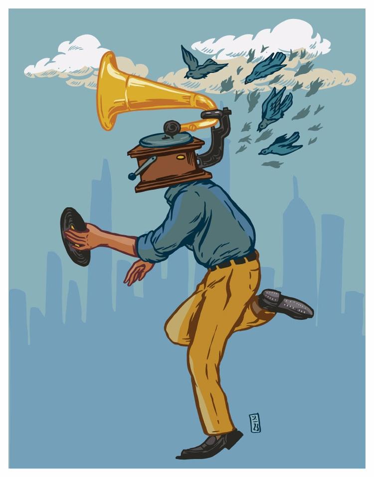 Fighting Songbirds - illustration - thomcat23   ello