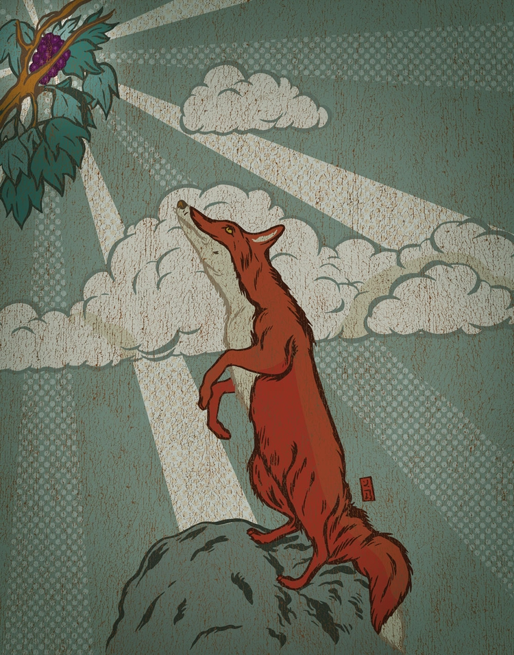 Fox Grapes - illustration - thomcat23 | ello