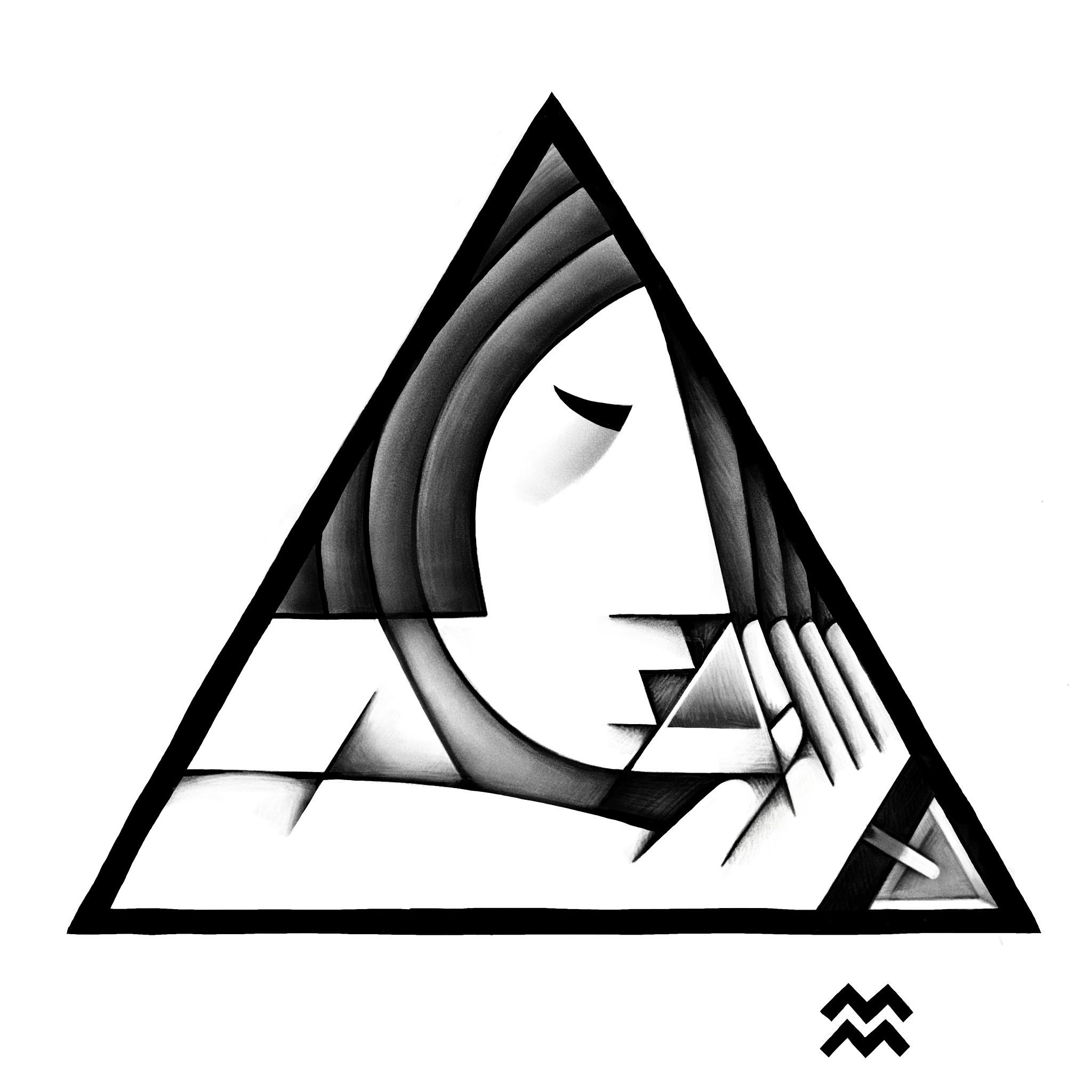 triangle | martini - miriamdraws - miriamdraws | ello