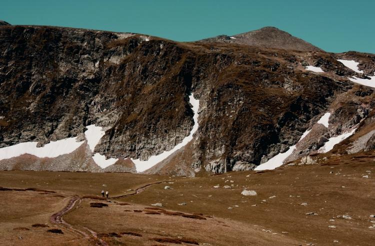 path, couple, hill, snow, landscape - coldd_desert | ello