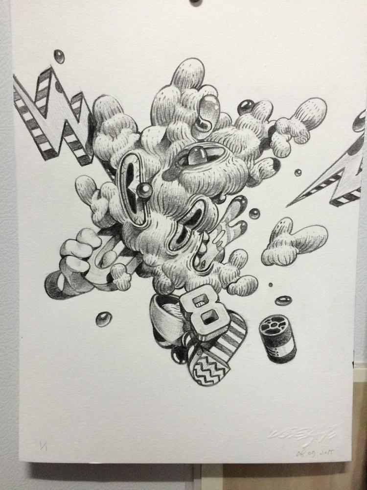 black color pencil paper:lower - 08am   ello