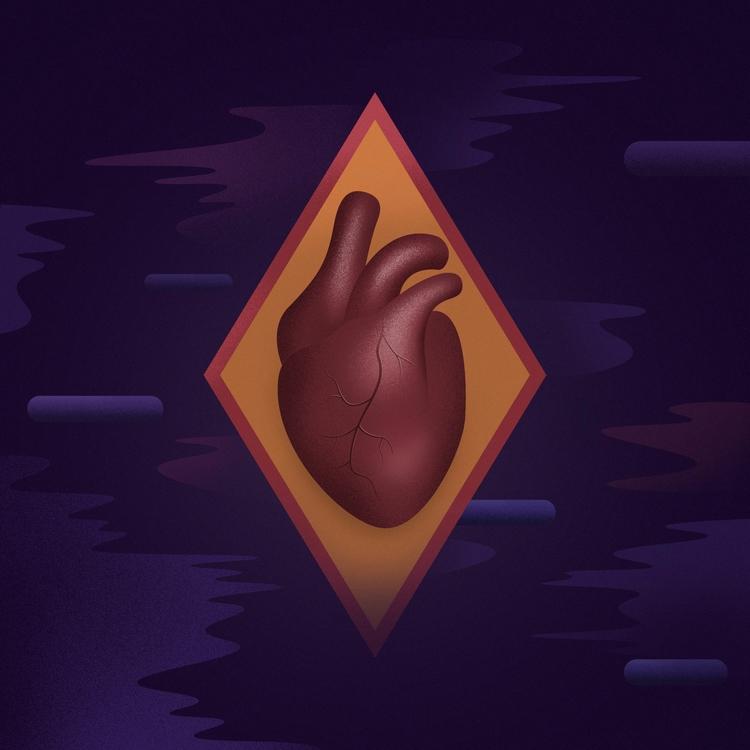 heart, retrowave, retrofuturism - filianstudio | ello