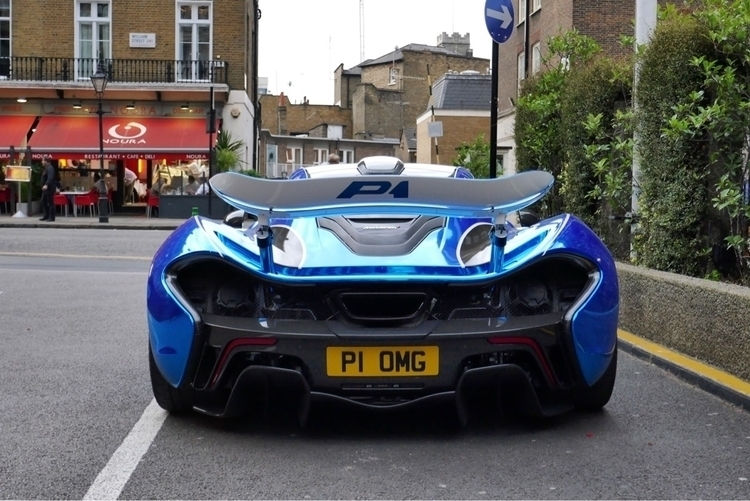 OMG blue chrome P1 - mclaren, mclarenp1 - luciensmith | ello