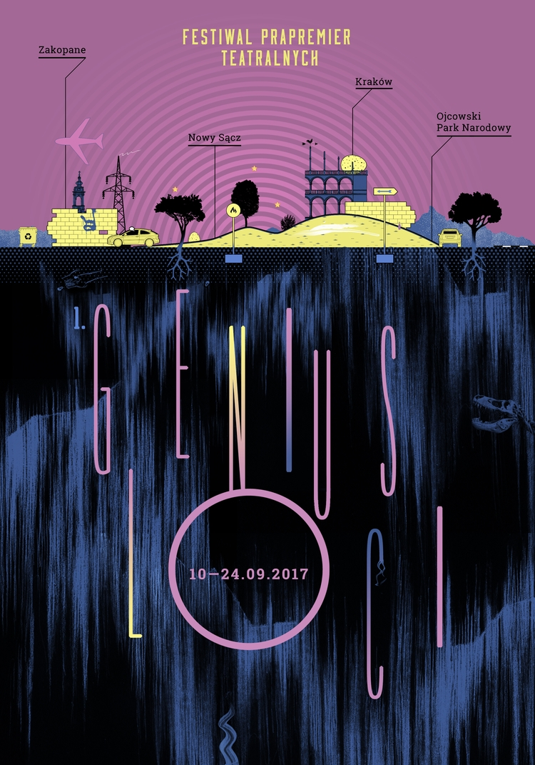 poster Genius Loci theatre fest - victorsoma   ello