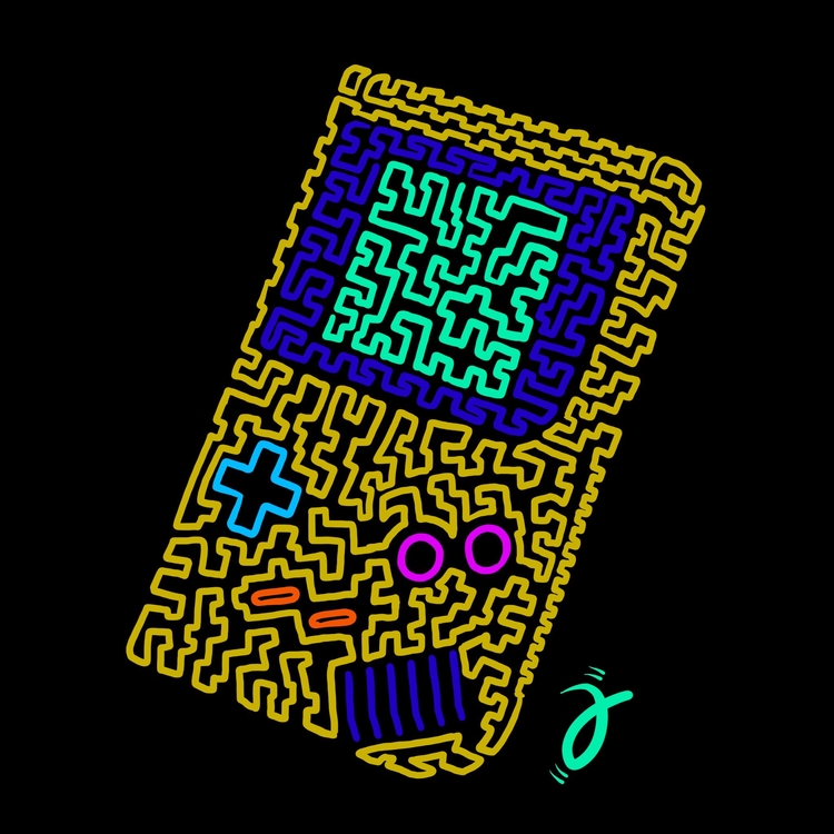 Gameboy. Squiggle Furmie - illustration - furmie | ello
