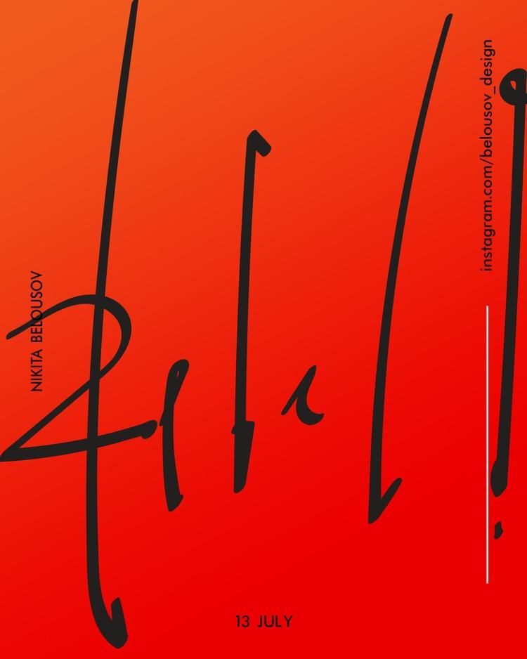 art, design, poster - belousov_nikita   ello