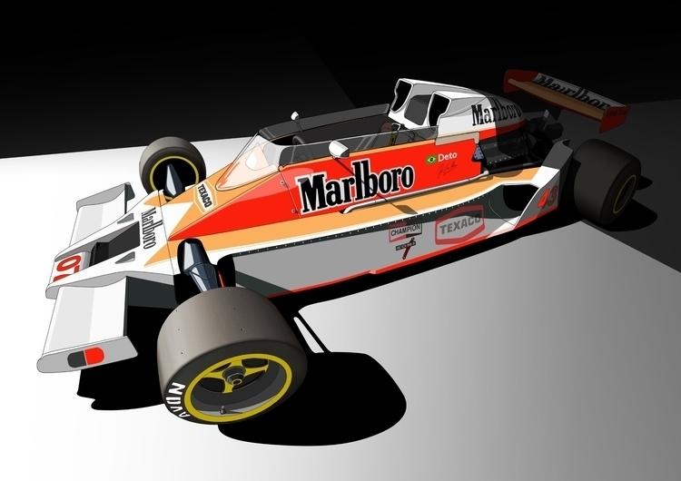 Formula cartoon design - avion, f1 - deto91 | ello