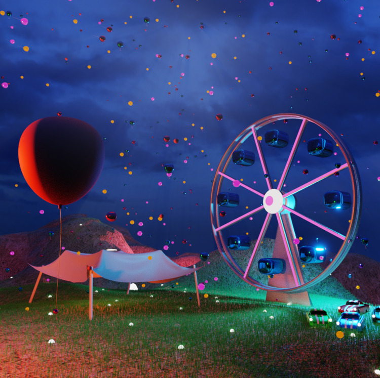 3d, 3dart, art, party, colourful - solutuminvictus | ello
