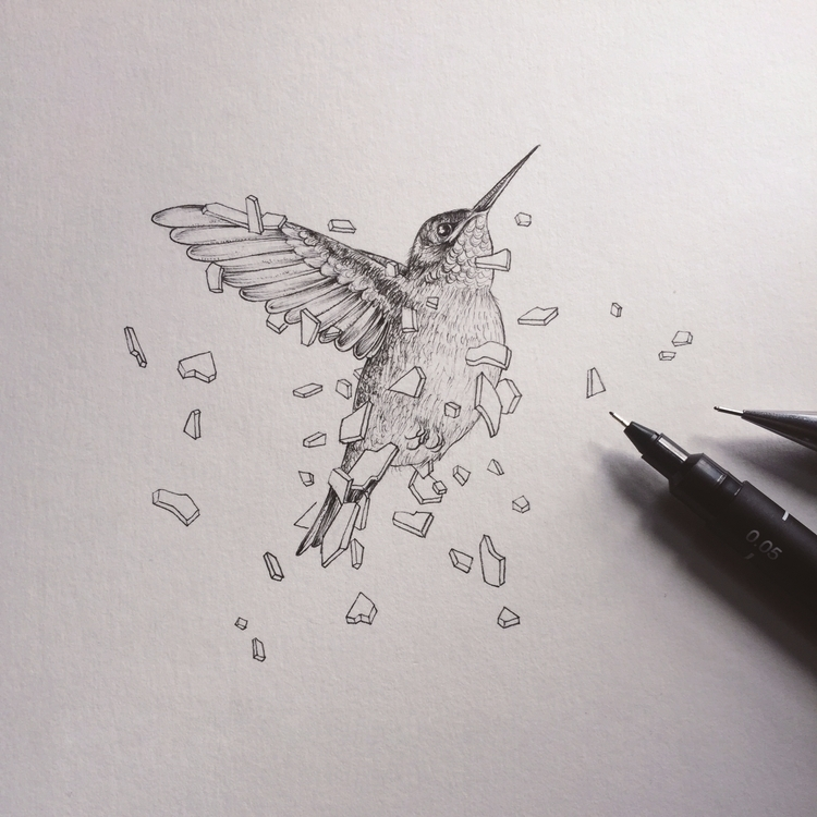 Escape | Hummingbird Fineliners - luongdoo | ello