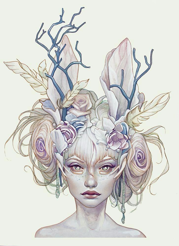 'Opal' Jennifer Healy, print re - geekynerfherder | ello