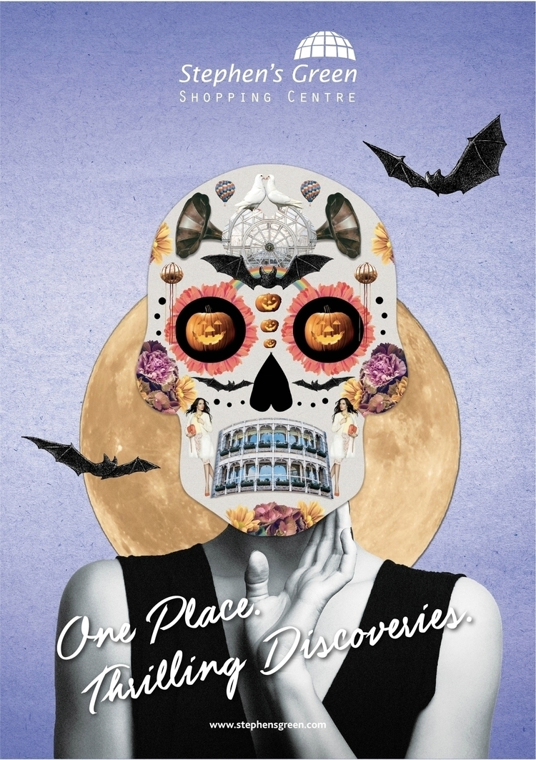 Halloween, Ad, sugarskull, collage - mickeygogo | ello
