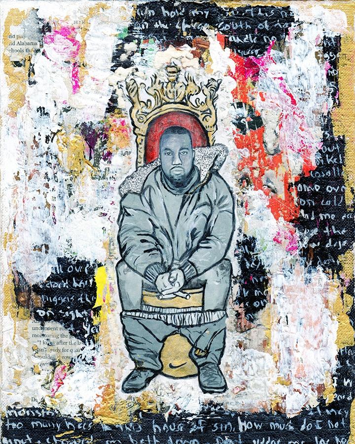Title: Throne Kanye Size: 8″X10 - damionismyname | ello