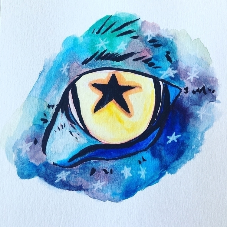 Universes Eye - watercolor, Galaxy - graciestudio | ello