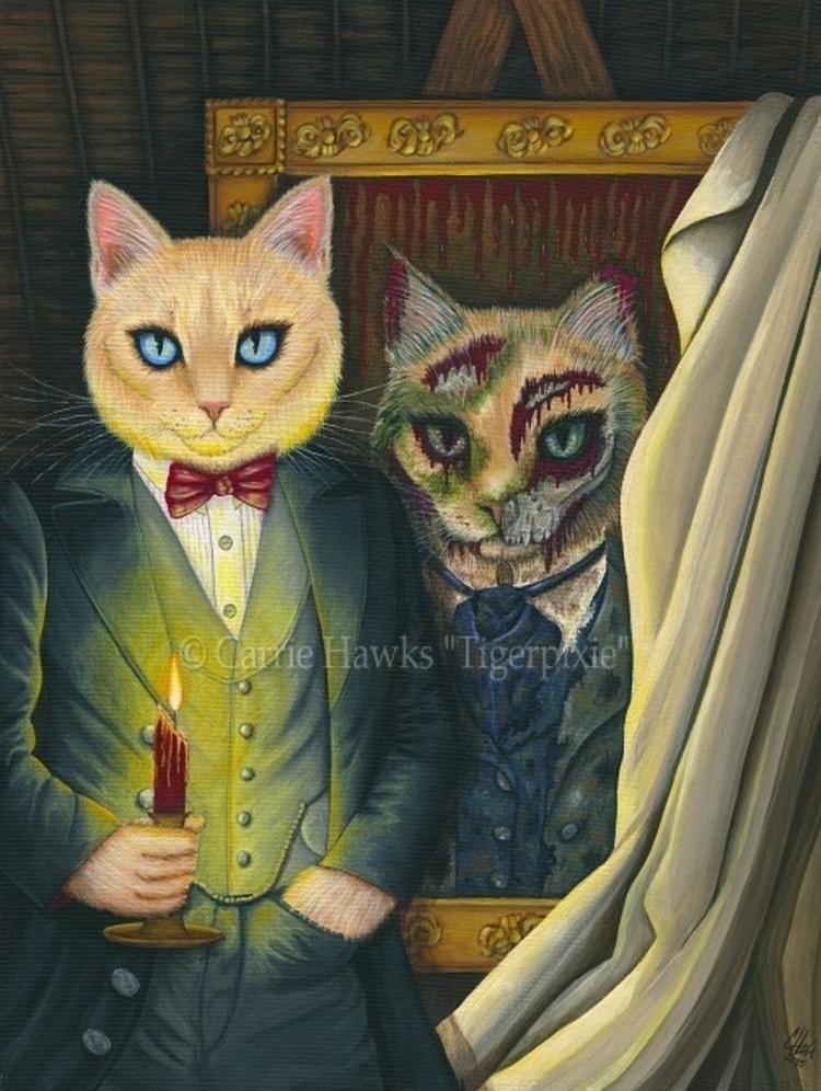 Dorian Gray Original Painting S - tigerpixie   ello