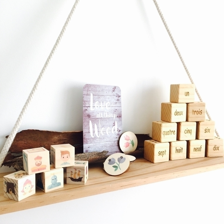 SHELFIE love timber blocks rele - mylittleset | ello