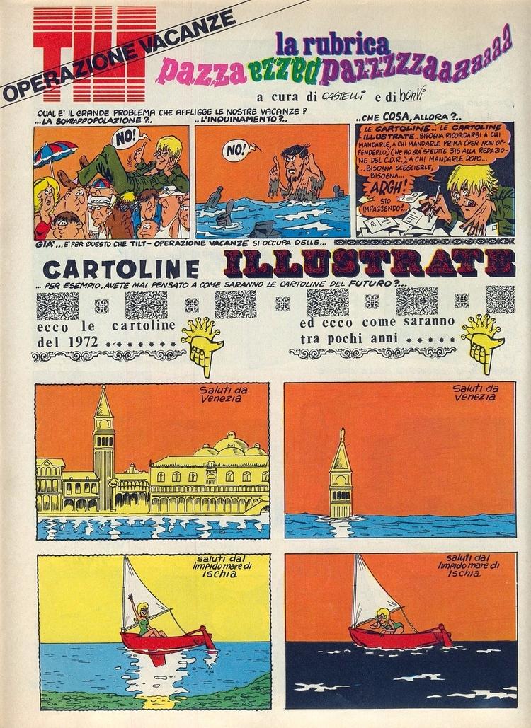 [Cartoline (di Bonvi Castelli)  - corrierino | ello