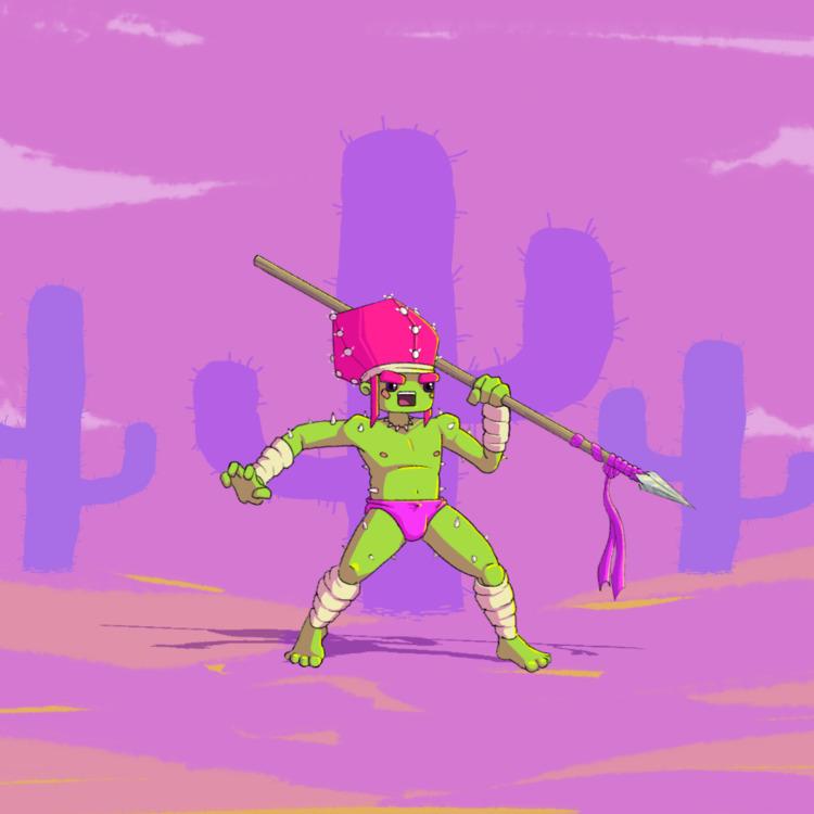 Cactus Hunter  - characterdesign - planckpixels | ello