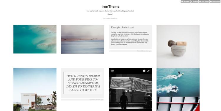 Stunning Tumblr templates - softwarefindr | ello