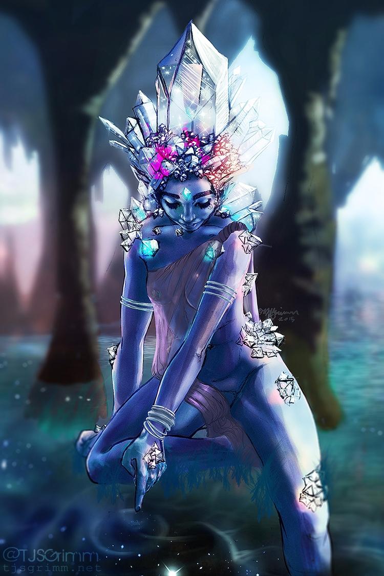 Crystal Goddess - tjsgrimm | ello