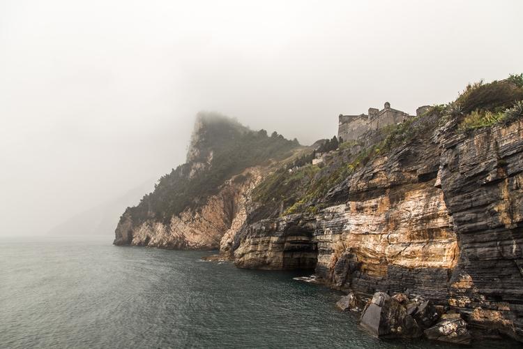Portovenere, Italy covered fog - jhollaholla | ello