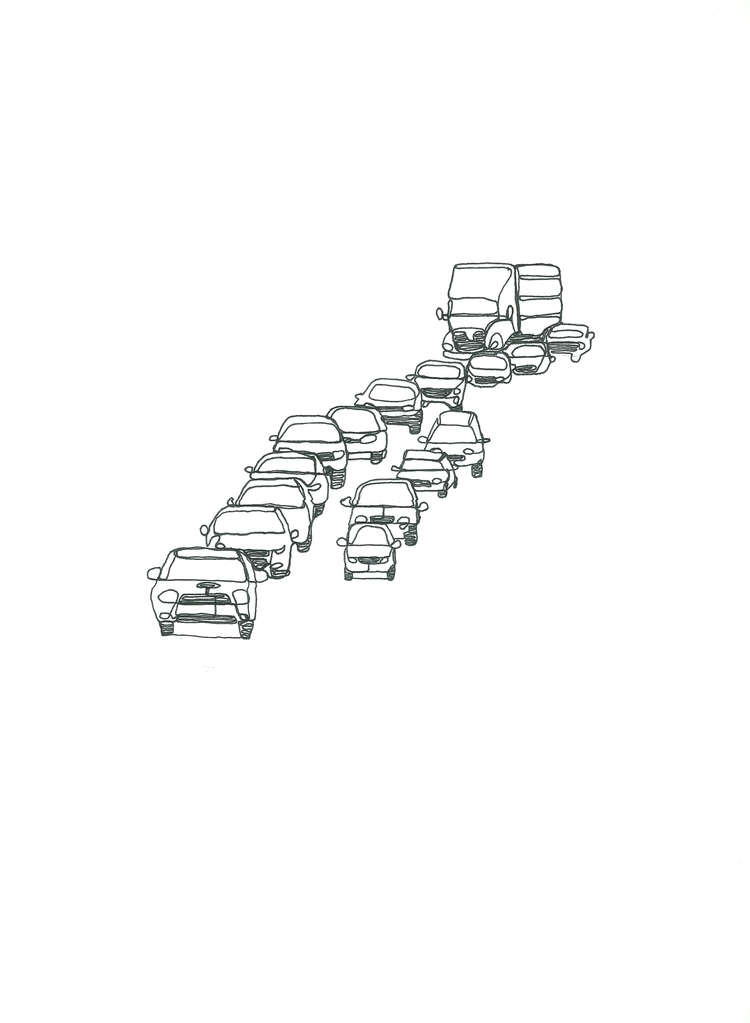 Traffic Continuous line study F - lhyillustration | ello