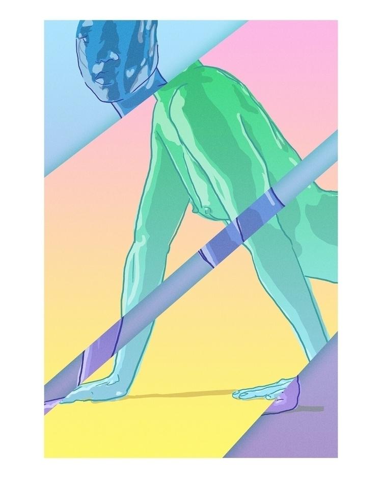 cat walk - digital, illustration - kardozin | ello