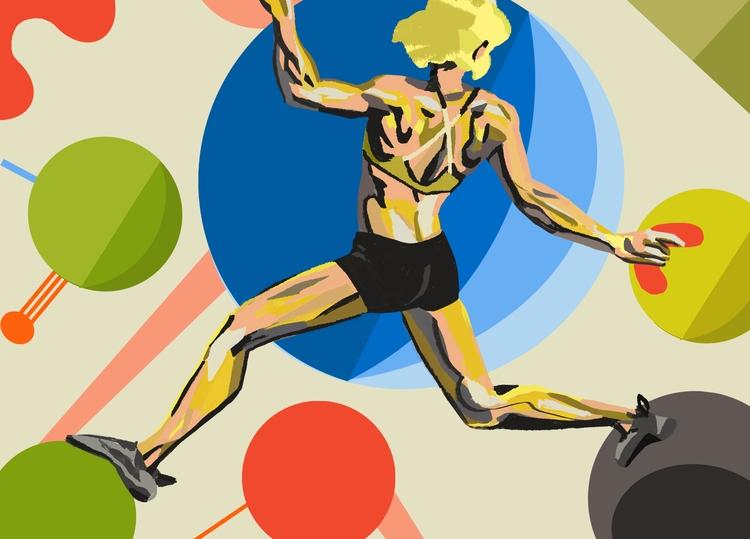 Bouldering 1 - art, arte, artinfo - ciaran_illustration | ello