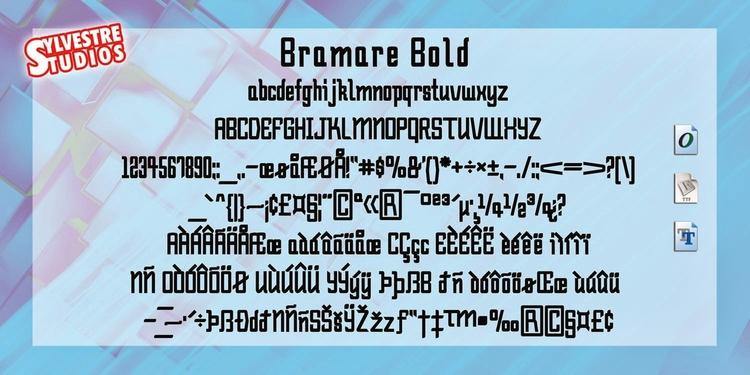 Bramare (Opentype/Truetype/Web  - micksylvestre | ello