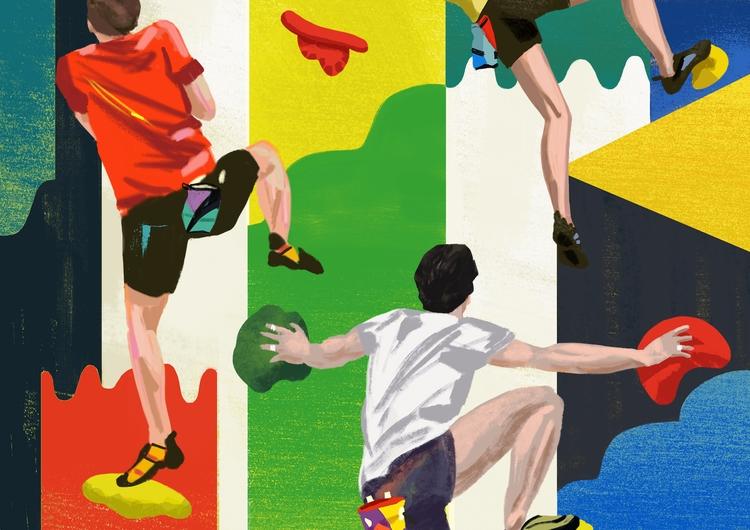 Bouldering 2 - art, arte, artinfo - ciaran_illustration | ello