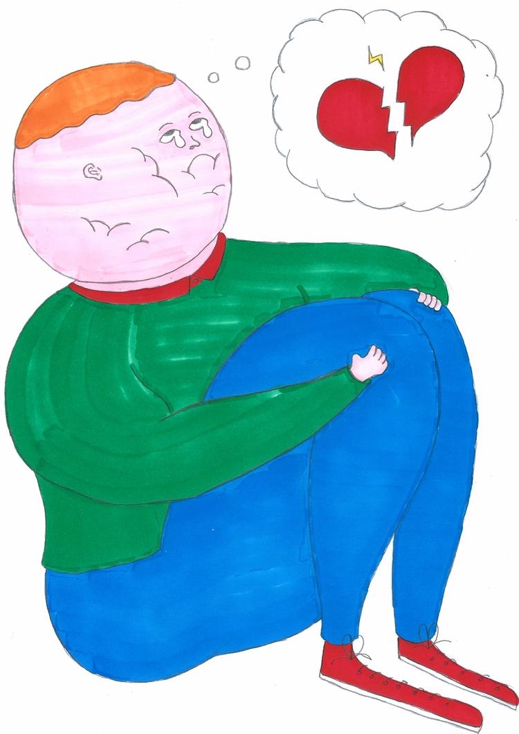 Sad love story - illustration, graphicdesign - molonom | ello