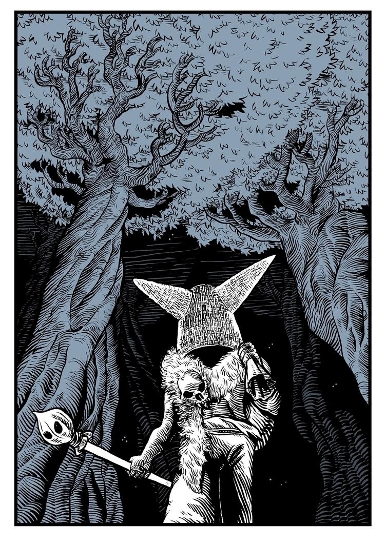 Lead Ink paper digital colour - illustration - splendidhand | ello