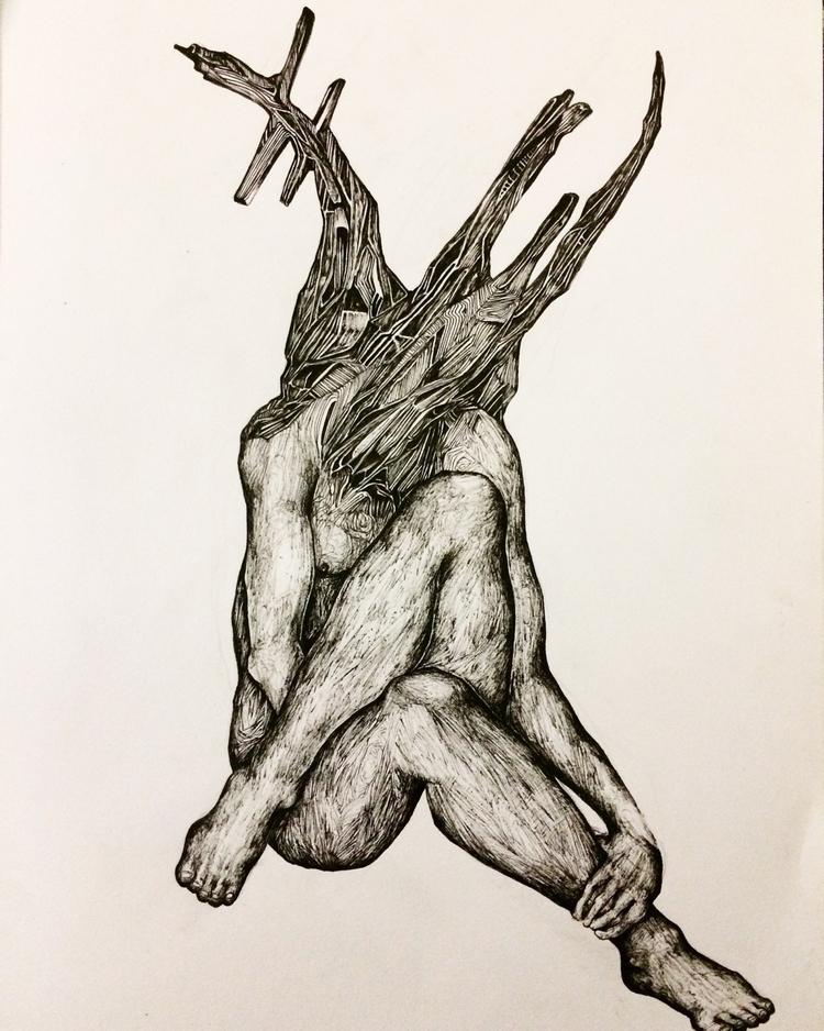 Title: Ramus - art, drawing, blackandwhite - jacobbayneartist | ello