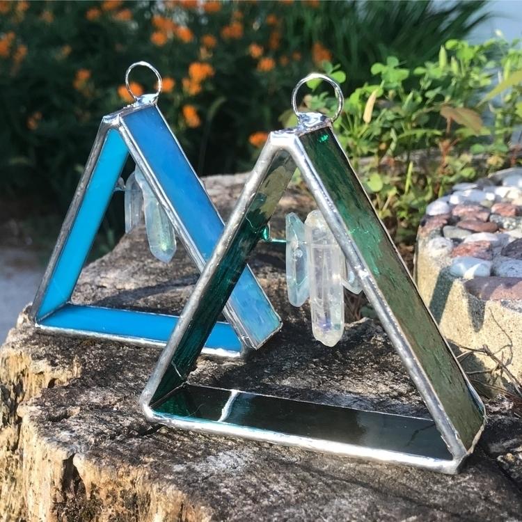 Triangle Crystal Window Charms - wickedstainedglass | ello