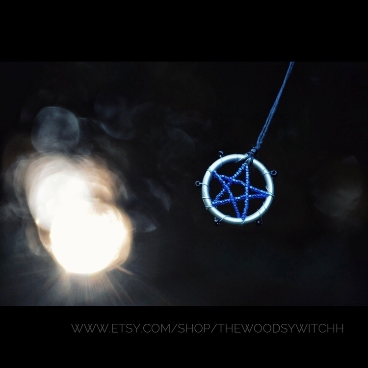necklace, jewelry, pendant, pentagram - thewoodsywitchh | ello