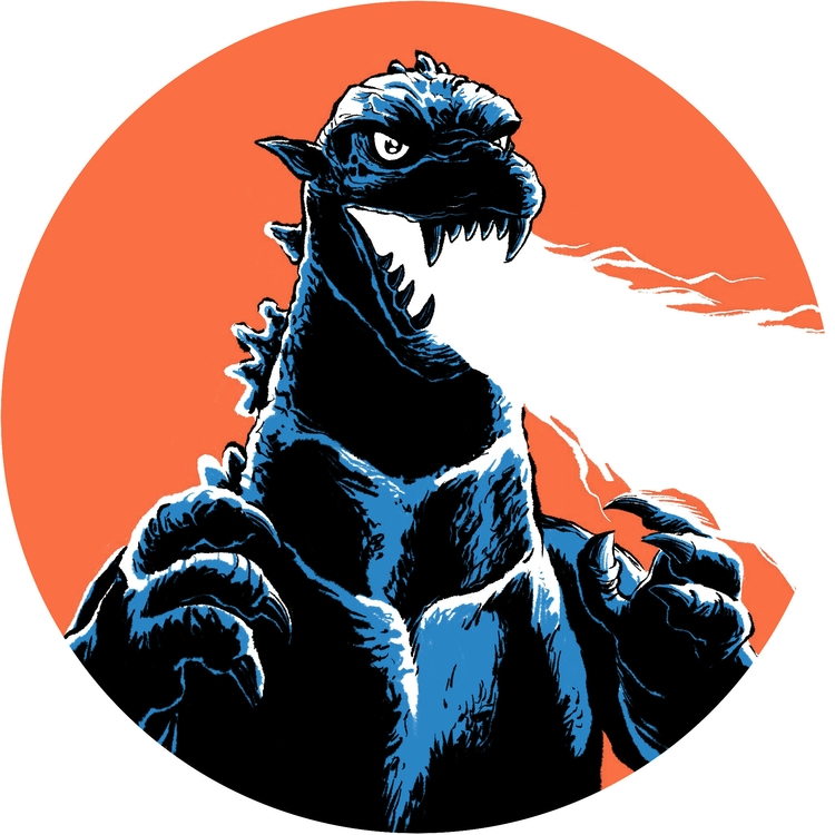 Godzilla. Digital - illustration - splendidhand | ello