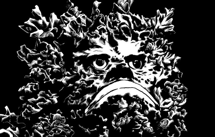 Sea-Weed Sad-Face Ink paper - illustration - splendidhand | ello