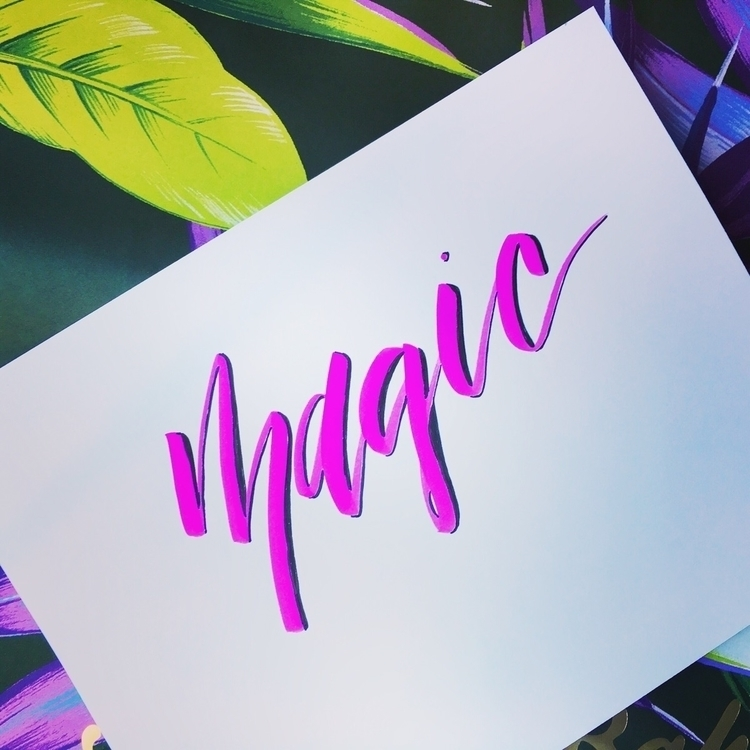 Monday night magic - typography - chickadeedixie | ello