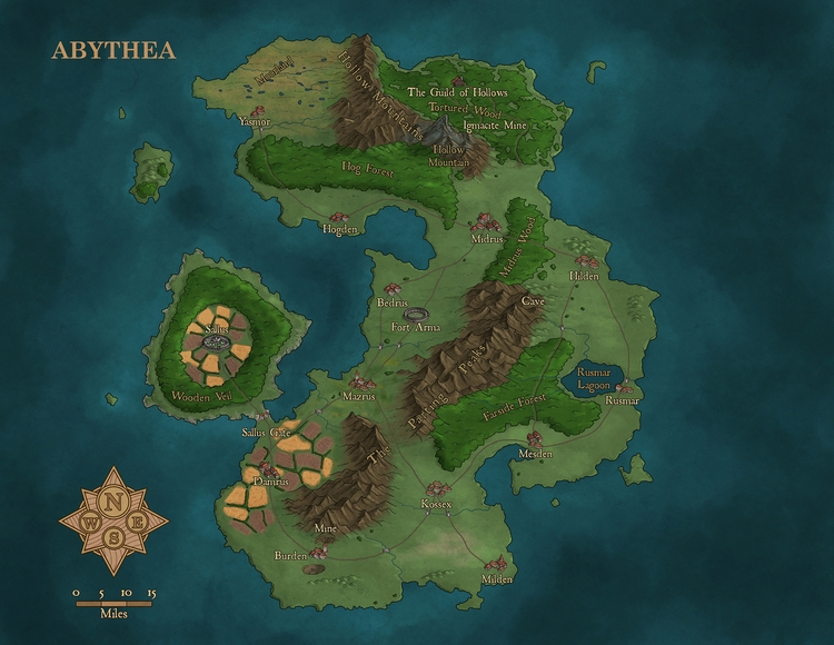 Abythea - commissioned map - robertaltbauer | ello