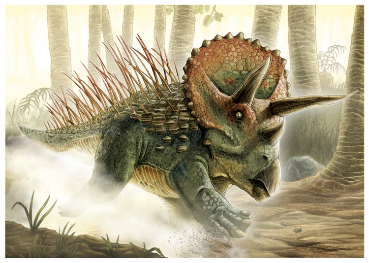 Charging Triceratops Pencil pap - splendidhand | ello