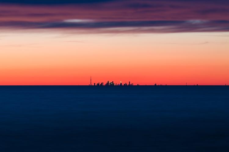 **Toronto Skyline - longexposure - mbstuart | ello